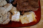 "Glenn's Lemon Bars (courtesy of his grandma) & My ""heart healthy"" oatmeal chocolate chip cookies (on left)"
