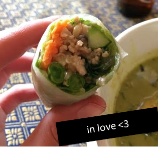 in love - summer rolls